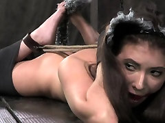 Cat play girl use cat submissive hogtied