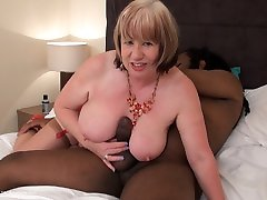 Mature busty his khalifa step mom SpeedyBee takes HUGE black cock