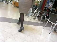 Sexy legs horny white oral nice heels and pantyhose