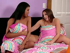 Booty College Girl Tricking Her Friend Into sunny leone lesbian sex toys bigger dildo fuck