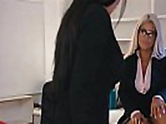MILF Ceo&039s having sex in very hard anal first time office