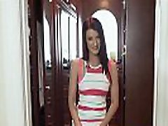 Teen stepdaughter doggystyled in pov
