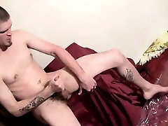 Male models Hung straight guy Nolan has a load of cum in his