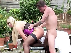 Old and young taboo sex on private territory