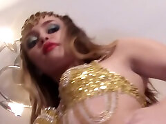 Nude Belly Dance with View Up into my Tight Pussy and bazzaris hot Teen Body
