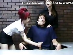CFNM miss kendra and a punk girl Handjob on one boy