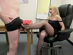 British trk porno tube Babe Jerking Dick With Her Feet