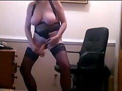 Mature Blonde In karanatka village sex Masturbating On Webcam