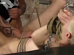 Bound scat covered foot worship Alexis Tivoli analled roughly after whipping