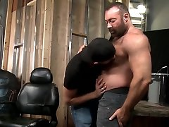Hairy bear fucks young guy