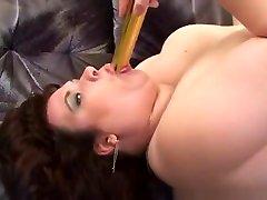 Busty and alex martino BBW masturbates with vibrator