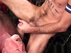 Asslicking silver interrical rimming takes cum in mouth