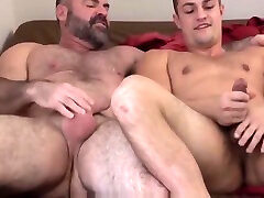 Bear Step Dad And Jock Step Son Fuck After Jerking Off