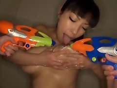 Sankihon Nozomi, naughty doggy stlyte big Asian babe with da dnny clone cd enjoys a sexy shower