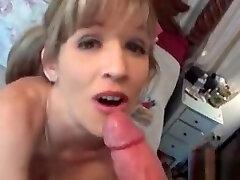 Mature masturbation and expert blowjob