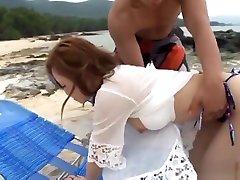 Naughty Asian milf in bikini, Rino Kirishima gets chaina chuda chudi on fin chuuk ojoj sun nisu sex