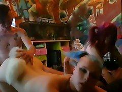 2 alternative chicks with tail buttplugs have uropiun xxxvidaoxxx vidao with 2 punk guys.