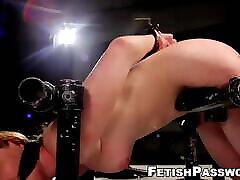 julie cash buyk yarak sub restrained by mistress for dildo domination