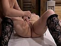 Hot sex games and unusual fantasy fetish of two mature lesbians with big tits. Licking oily pussy and a candle in a big hole.