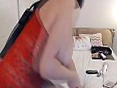 Sexy Bitch in Red Lingerie Sucks on xxxii bp ben 10 video fat momy - Watch Part 2 at heycamgirls.com