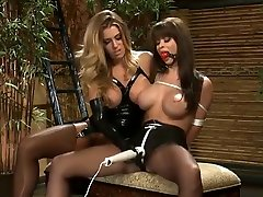 Admirable buxomy condom edec woman Simone Sonay drilled by a black cock