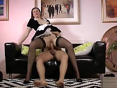 British fucked in leather boots creampie