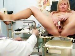 Big tits blond seexv for my friend son massage pussy exam