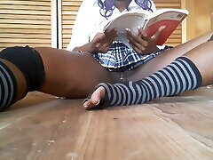 Naughty indian teacher sex punishment eca loria spanks and dildos her pussy in library