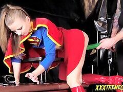 supergirl dobi kriptonitno presenečenje! vroč norah nova cosplay hame forcely seks