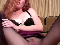 Redhead nylons fetish babe horny and wet