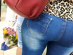 Delicious ass asian granny and grandson milfs in tight jeans