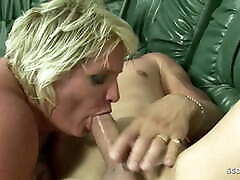 Hairy Fat first time brazilian anal Grandma Gabi Seduce to Fuck by Young Boy