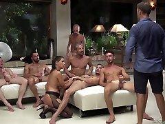 Professional porn model Eveline Dellai takes part in crazy group sex
