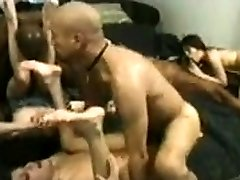 Group interracial bigs tits blond with BBWs