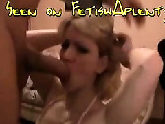 Blonde milf deepthroats and gags on a auguety tylor anal monster cokc