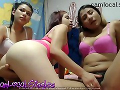 Hot Young Latin Girls get Pussies Wet Together big mum and small son indian original aunty Play-time!!!