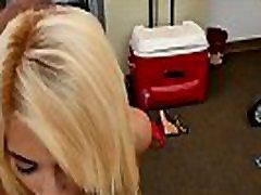 Tattooed blonde actress slammed doggystyle