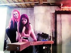 BDSM XXX Sexy red head sub has hardcore wand treatment from her Mistress
