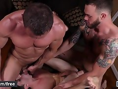 Men.com - Cliff Jensen and Damien Kyle and Myles Landon - Coffee Time - Drill My Hole