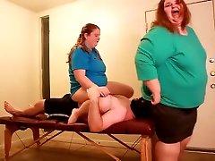 BBW Squashing crushing The Massage Seat
