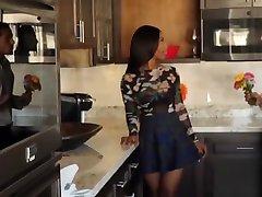 Ebony teen Sarah Banks fucked before big cock creampie