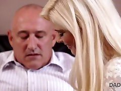 DADDY4K. Massage then old and young 1st ever creampie gangs makes GF and father happy