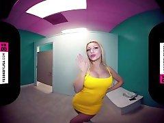 VR 3D 180 - TRYING DRESS ON MY BIG FAKE TITS - VIRTUAL REALITY 4K POV SEXY