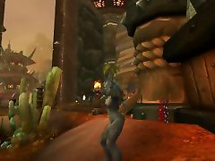 World of Warcraft: Battle for Azeroth - Maghar Orc female nude dance