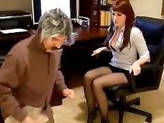 Sexy Office xxx dawalnoted in Black Pantyhose 2