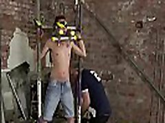 Blindfolded submissive dominated and jerked off hard