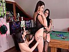 Lesbo lovers Zafira & Kira Queen & Lady Dee lick & finger tasty pussies
