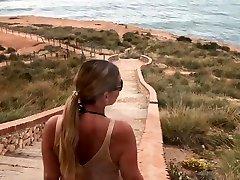 blowjob on the Spanish beach