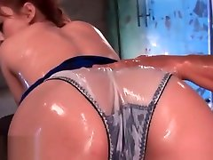 Japanese oil sex with beautiful redhead