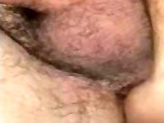 Chubby white boy takes black cock